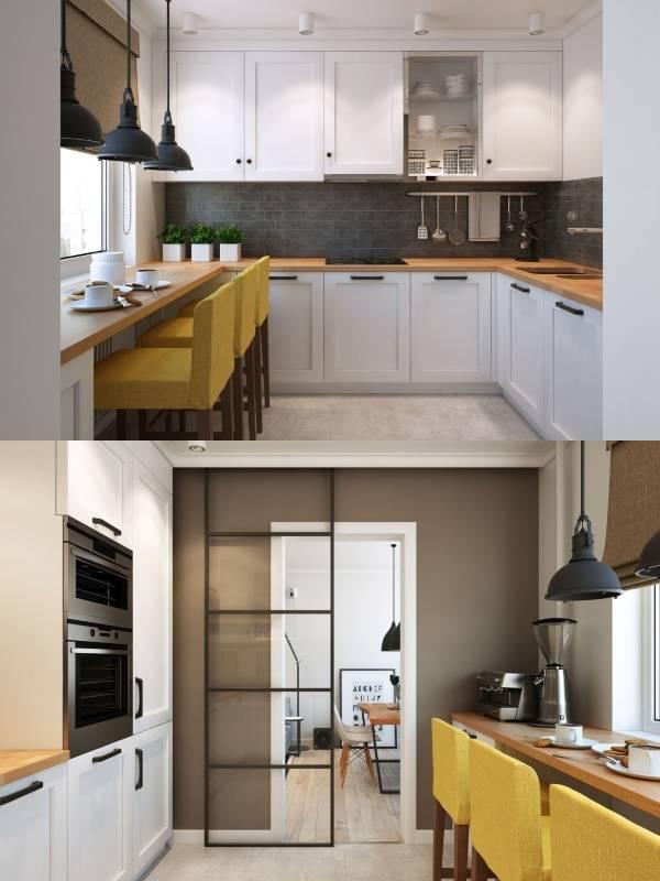 Двухкомнатная квартира в скандинавском стиле - фото кухни