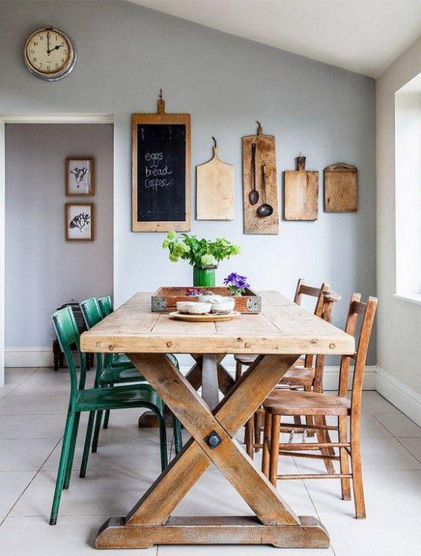 кухня зона обеденного стола деревянный стол