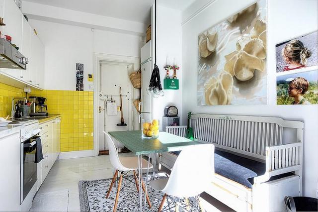 кухня зона обеденного стола маленькая кухня