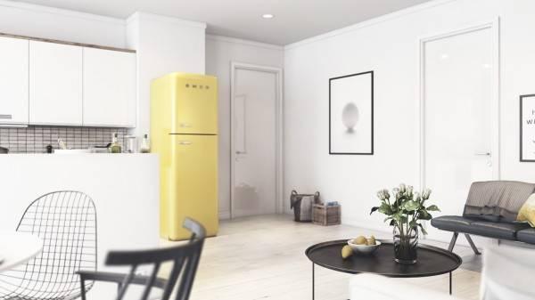 Винтажная квартира в скандинавском стиле - фото интерьера