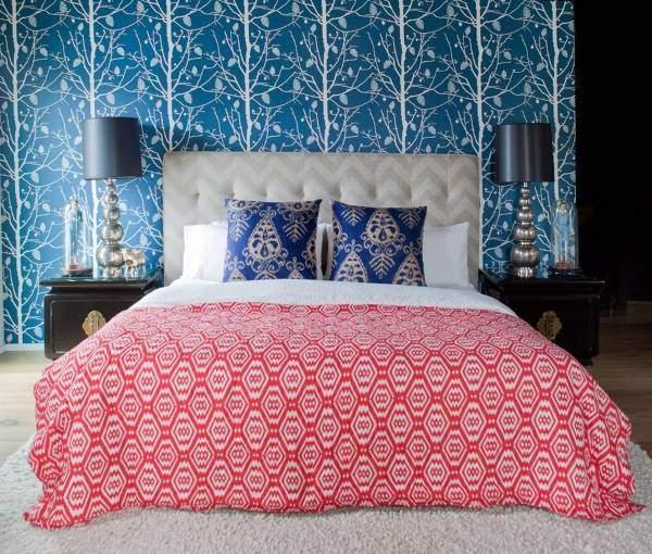 Современный дизайн обоев - фото в интерьере спальни