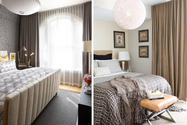 Выбираем модные шторы в маленькую спальню - фото 2016