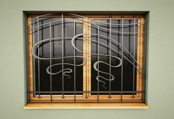 Необычные металлические оконные решетки для защиты