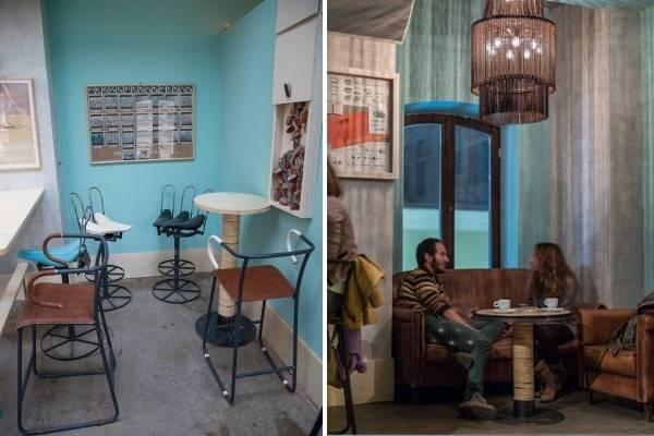 Дизайн кафе и ресторанов в стиле хай-тек и индастриал