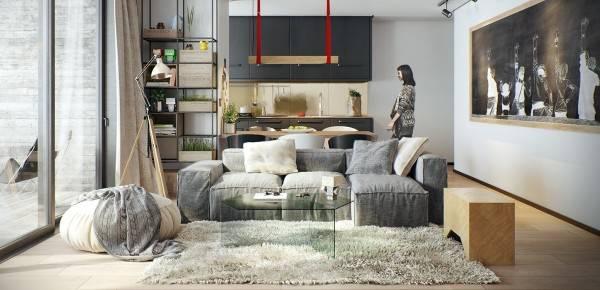 Скандинавский стиль в интерьере квартиры - фото реальных жилищ