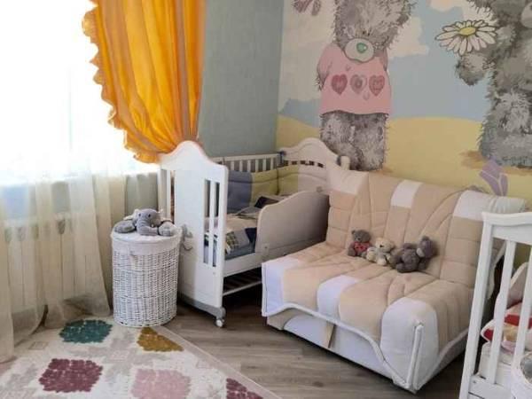 Милые обои для детской комнаты девочки с мишками Тедди