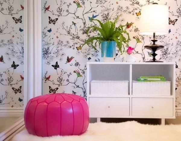 Обои для детской комнаты для девочек подростков с бабочками