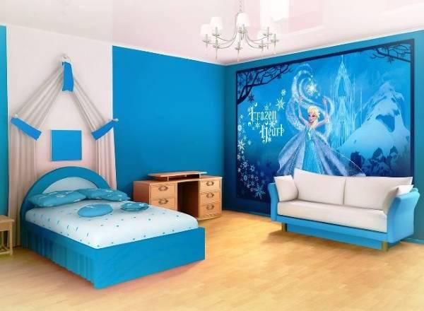 Популярные обои для спальни девочки - Frozen