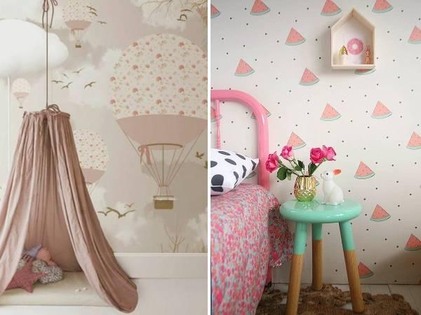 Стильные обои в комнату для подростка девочки в современном стиле