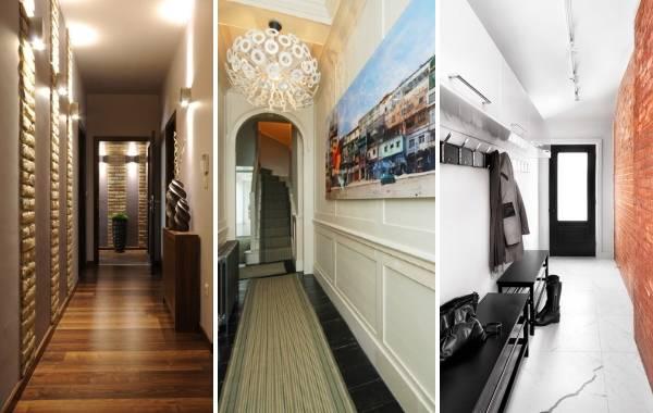 фото дизайн узкого коридора