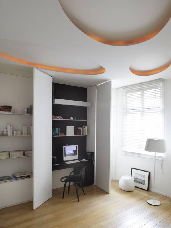 Необычный способ как сделать подсветку потолка двухуровневого