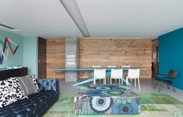 Отделка стен деревом в интерьере - фото в необычном стиле