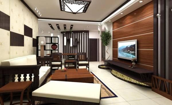 Отделка стен панелями из дерева - фото в гостиной