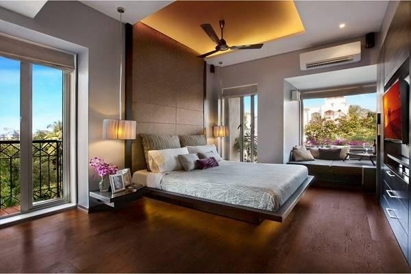 Как сделать подсветку потолка светодиодной лентой в спальне