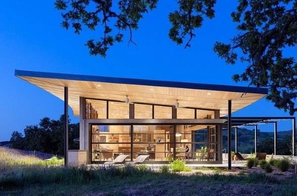 Одноэтажные дома в стиле хай тек - экстерьер