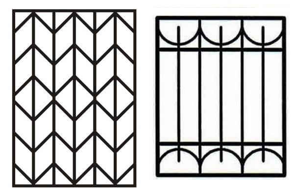 Сварные решетки на окна - эскизы и фото подборка