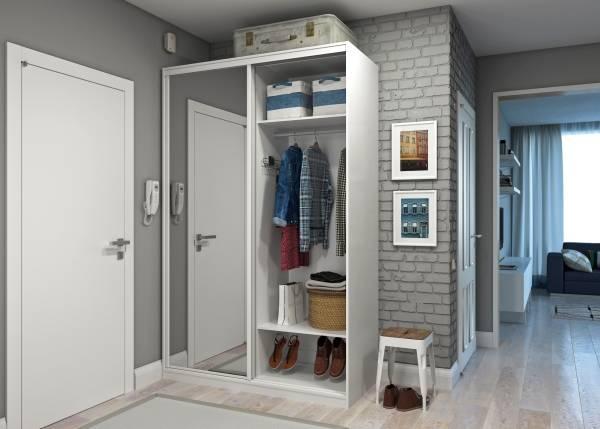 Маленький шкаф купе в прихожую - фото дизайн идеи для квартиры