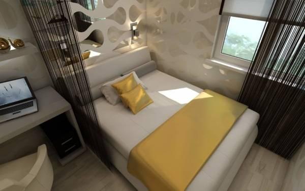 Шторы нити в дизайне спальни