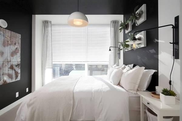 Прозрачные шторы в спальне - современный дизайн фото 2016