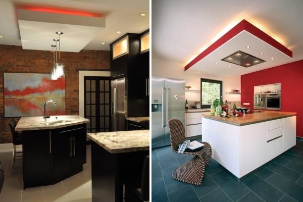 Подсветка потолка светодиодной лентой - фото лучших идей в интерьере