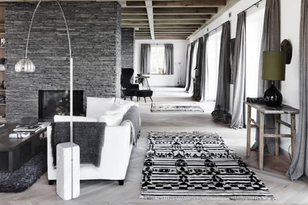 Разные ковры в интерьере - фото шегги и этнические мотивы