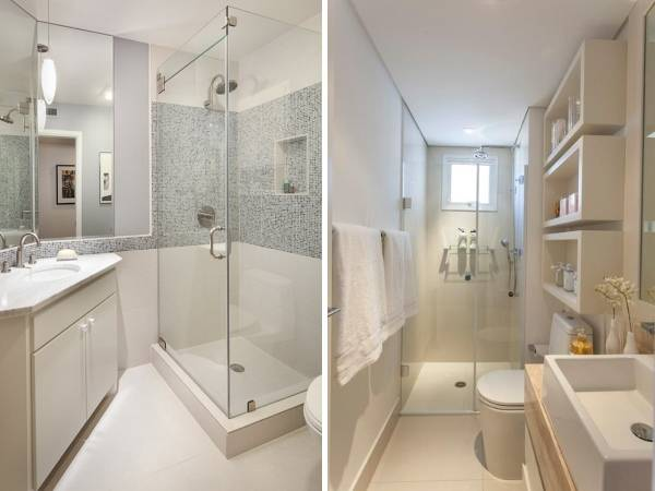 Ванная комната - дизайн фото санузел совмещенный с душевой