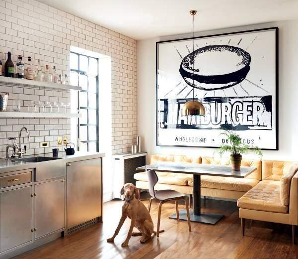 Обеденная зона на кухне - фото угловые решения