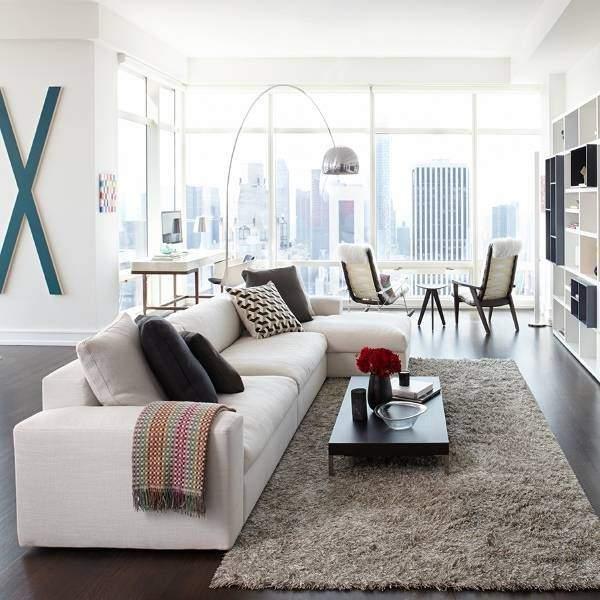 Новое в интерьере и дизайне 2016 - фото гостиной в стиле урбан
