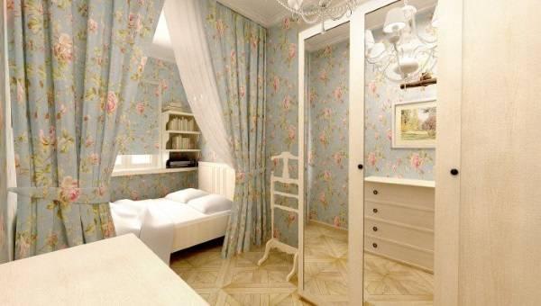 Шкаф в спальню в стиле прованс с распашными дверцами