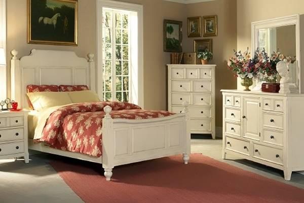 Мебельный гарнитур для спальни в стиле прованс