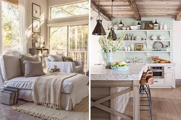 Модный дизайн интерьера 2016 - прованс спальня и кухня