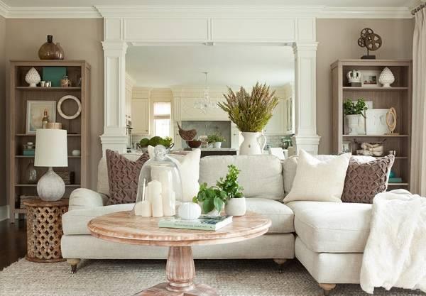 Стили дизайна в интерьере гостиной - современный прованс