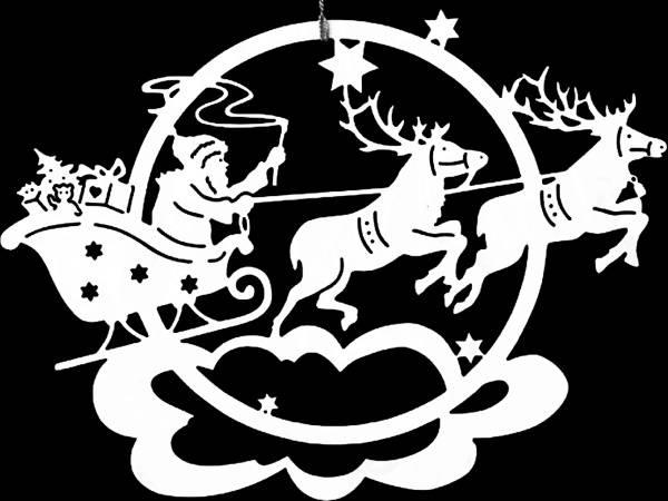 Украшаем окна к Новому году 2017 - трафареты Дед Мороз