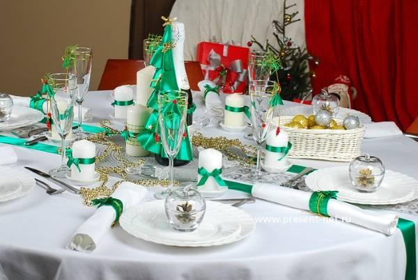 Новогодний стол - идеи украшения и сервировки на 30 фото