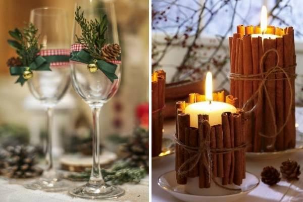 Как можно изготовить декор новогоднего стола своими руками