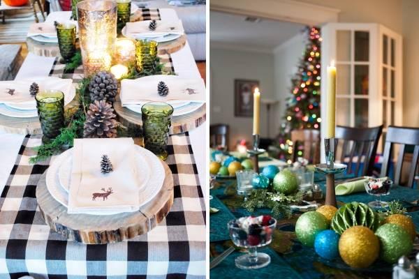 Декор новогоднего стола своими руками - фото украшений