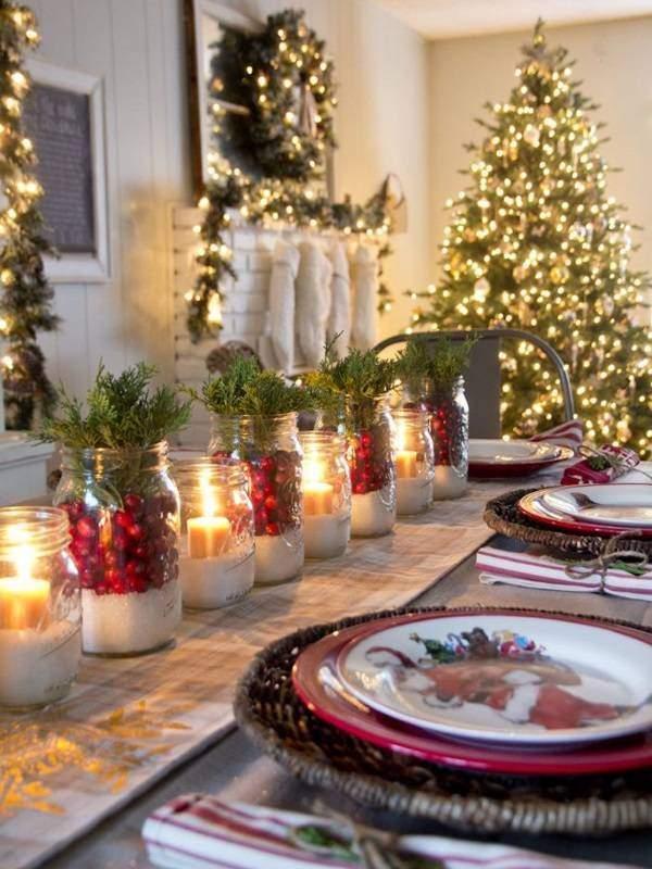 Оформление и украшение новогоднего стола своими руками