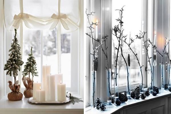 Скачать украшенью окон на новый год
