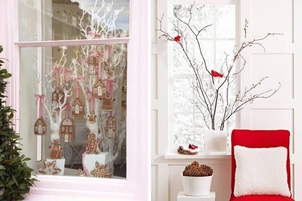 Украшаем окна и подоконники к Новому году 2017