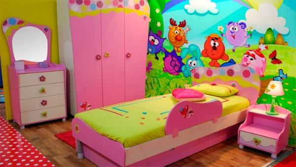 Яркие обои для детской комнаты девочки до 10 лет
