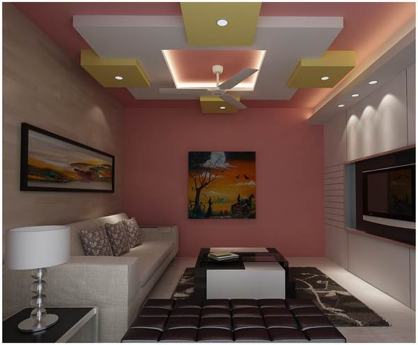 Дизайн потолка из гипсокартона на фото