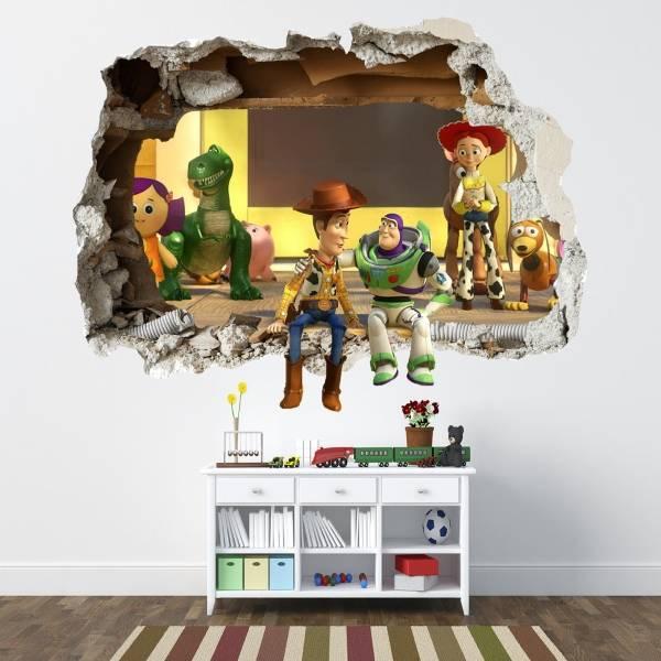3D наклейки на обои - декор детской комнаты