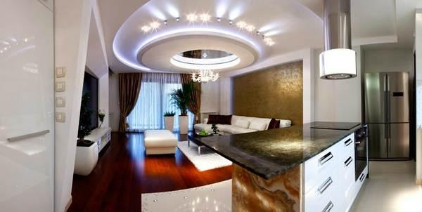 Дизайн потолков из гипсокартона 10 идеи
