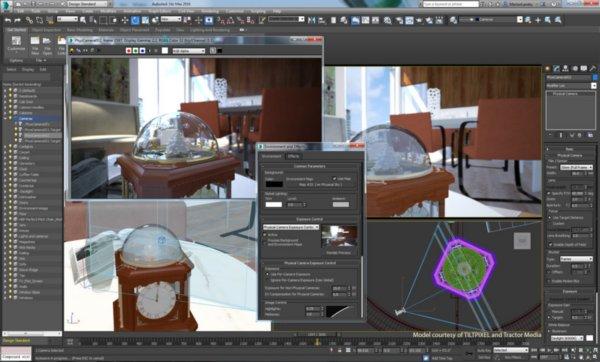 Разработка интерьера в Autodesk 3D MAX