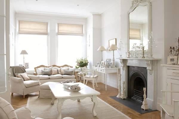 Французская белая мебель для гостиной классика