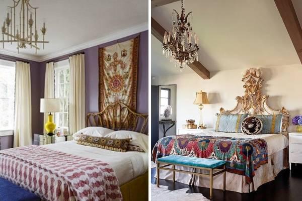Дизайн спальни в стиле бохо шик в интерьере