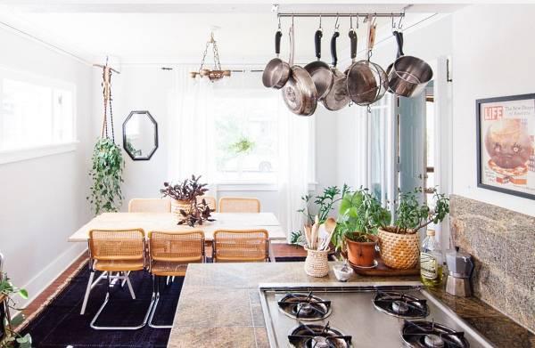 Столовая зона и кухня в стиле бохо - 10 фото интерьеров