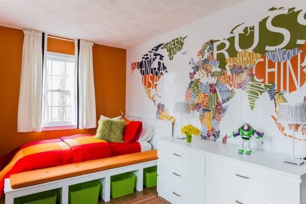 Большие наклейки на стену в детскую комнату