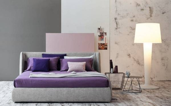 Дизайн спальни 2017 - фото в пастельных тонах
