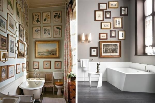 Картины как украшения для ванной комнаты